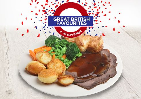 Carvers Great British Favourites Lunch and Dinner