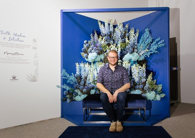 Q&A with spring floral utopia artist Matthew Landers
