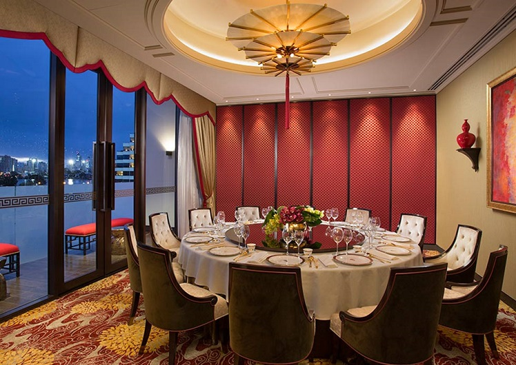 private dining room at silks crown perth