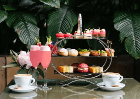 pink gin high tea at lobby lounge crown perth
