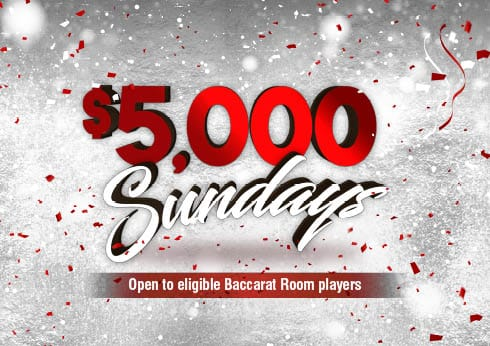 Baccarat Room $5,000 Sunday at Crown Perth