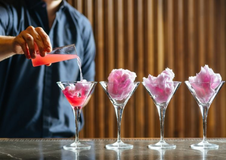 Crown Perth The Merrywell Pink Floss Martini