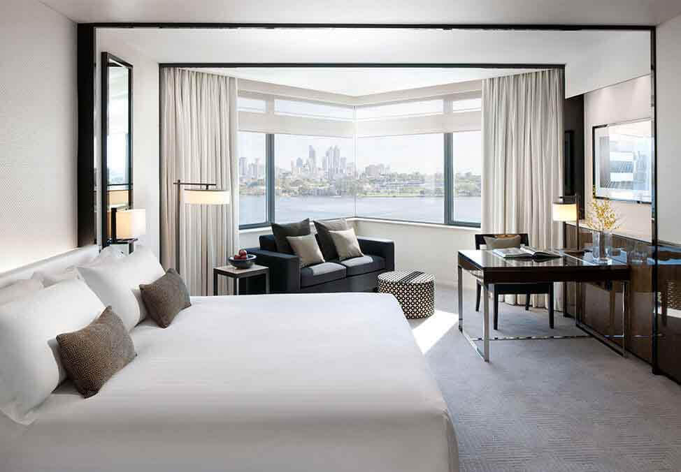 Perth Hotels CrownMetropol LuxeViewKing Bed