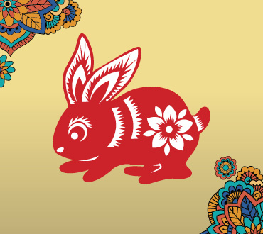 Lunar New Year Zodiacs year of the rabbit