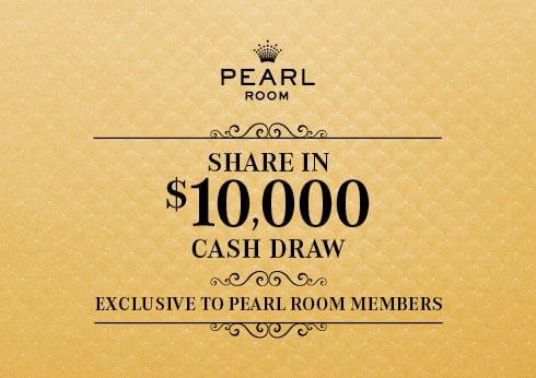 Pearl Room Share in $10,000 Cash Draw - Crown Perth Gaming