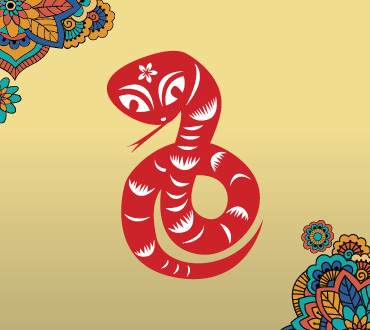Lunar New Year Zodiacs year of the snake