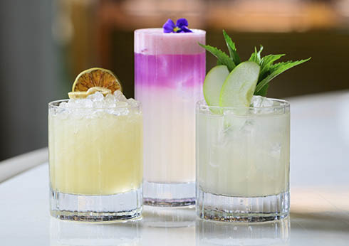 a selection of spring inspired cocktails