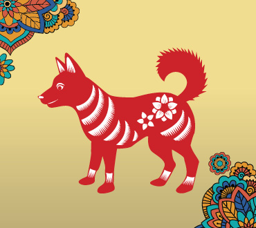 Lunar New Year Zodiacs year of the dog