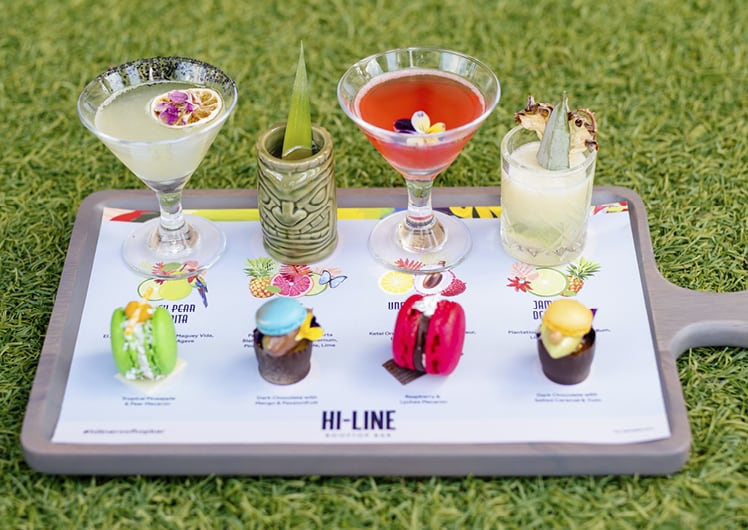 cocktail tasting paddle with dessert at hi-line crown perth