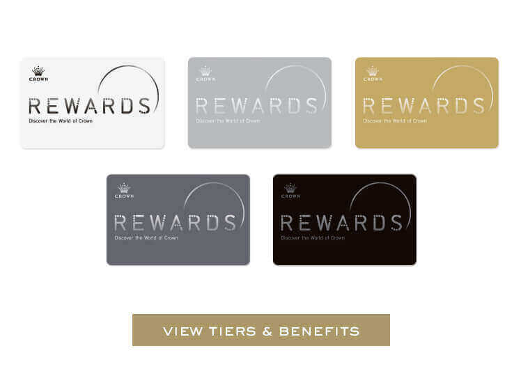 Five Tiers. Five Card Images - Crown Rewards | Crown Melbourne
