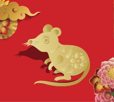 Lunar New Year Zodiacs year of the rat