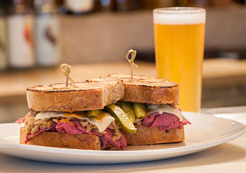 Rockpool Reuben Sandwich Crown Perth AFL Optus Stadium