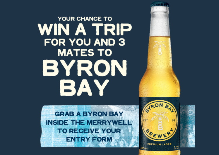 win a trip to byron bay at the merrywell crown perth