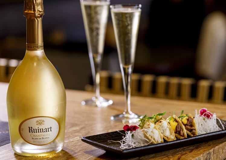 tacos and champagne at nobu crown perth