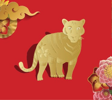 Lunar New Year Zodiacs year of the tiger