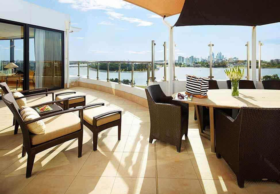 Perth Hotels CrownMetropol InfinitySuite Balcony