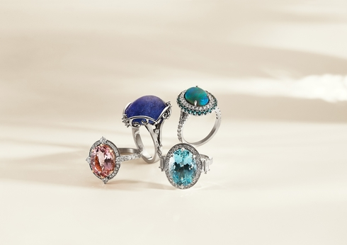Crown Perth Shopping luxury jewellery Linneys gemstone rings