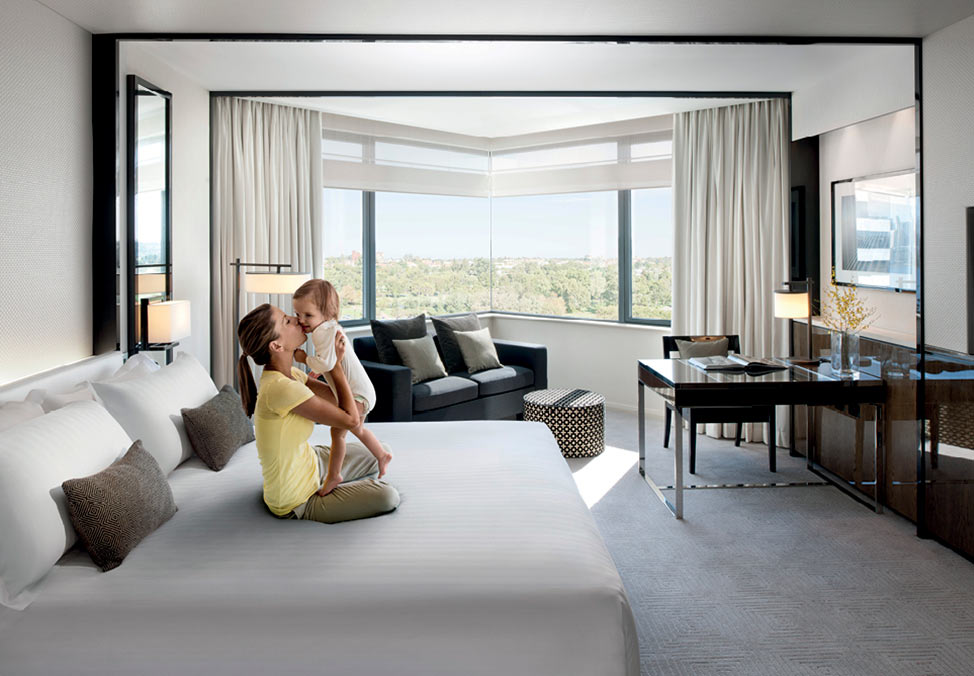 Mum and Baby in Bed - Keeping up with the Kids - Crown Metropol Perth