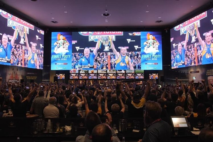 afl grand final 2019 west coast eagles collingwood magpies at crown sports bar perth