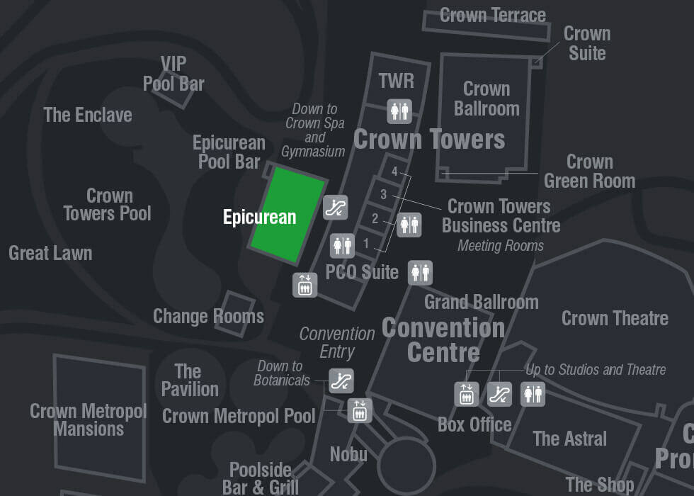 Crown Casino Map