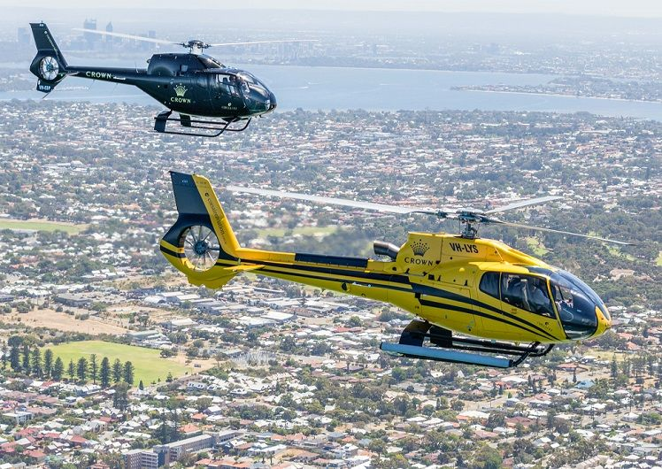 Crown Towers Corsaire Aviation helicopter flights scenic tour packages