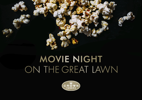 Movie Night on Great Lawn text