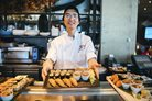 Melbourne Cup 2019 Nobu chef with fresh seafood dish