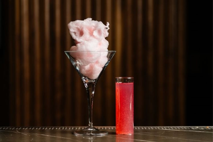 Pink Fairy Floss Martini