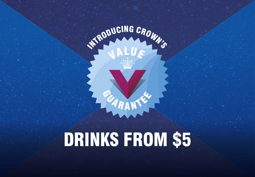 Drink Specials from $5 - Crown Perth Bars