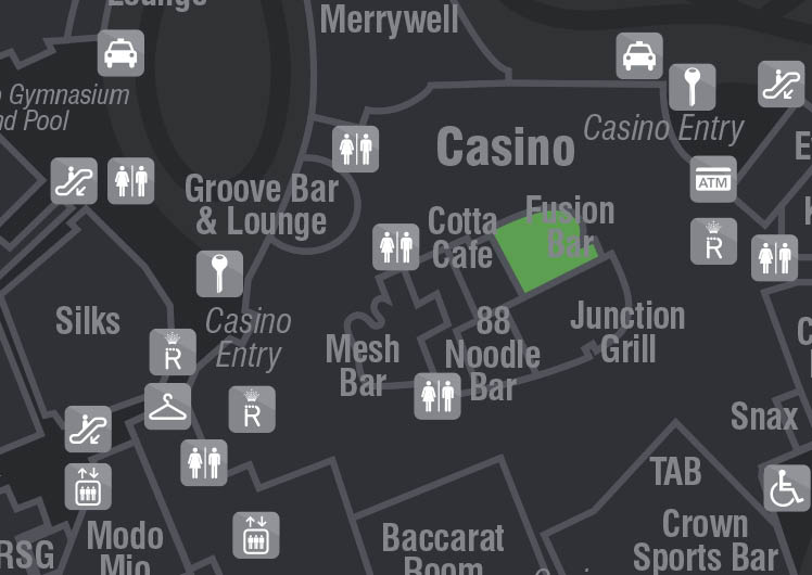 location of fusion bar in crown casino
