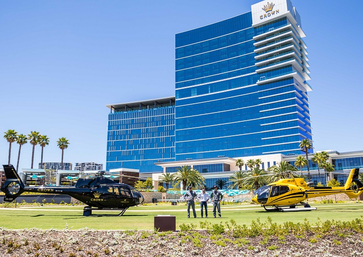 Crown Towers Corsaire Aviation helicopter flights scenic tours