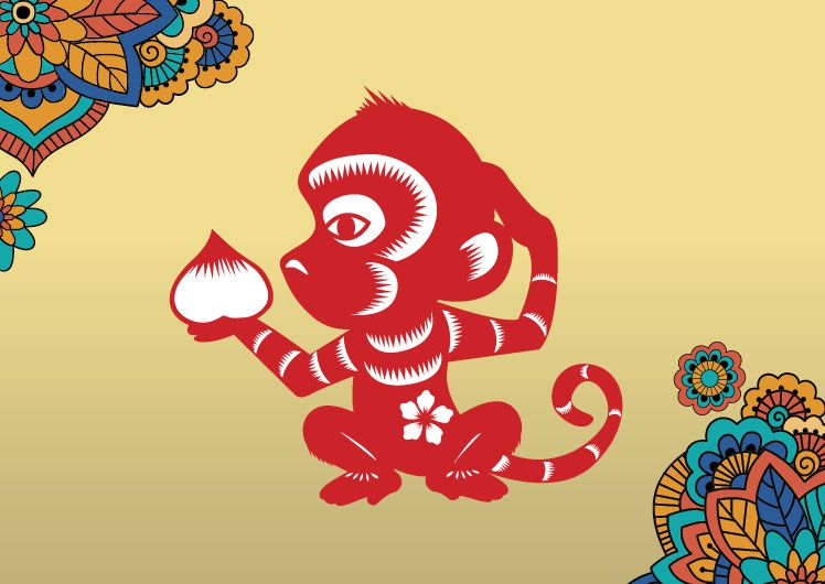 Lunar New Year Zodiacs year of the monkey