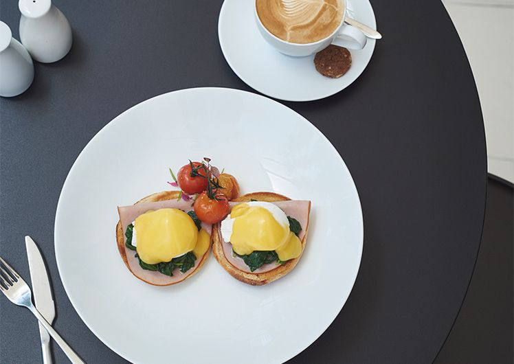Eggs Benedict - Breakfast at TWR | Crown Perth
