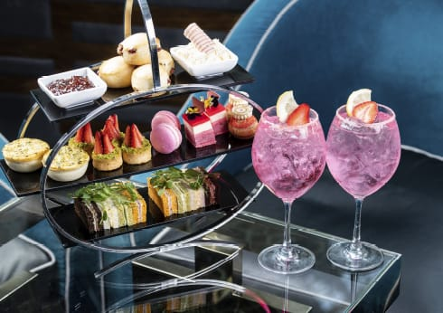 Lobby Lounge Pink Gin High Tea Crown Perth