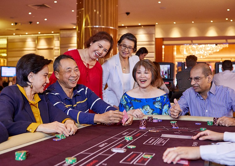 Crown Rewards members in the Baccarat Room
