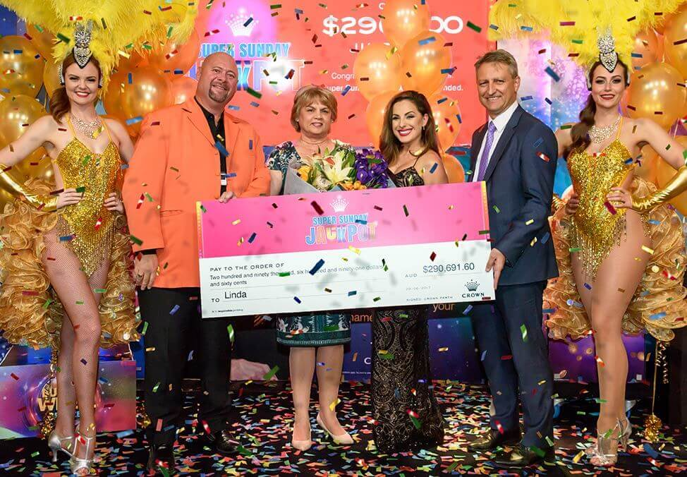Super Sunday Jackpot Winner - Win Big at Crown Perth
