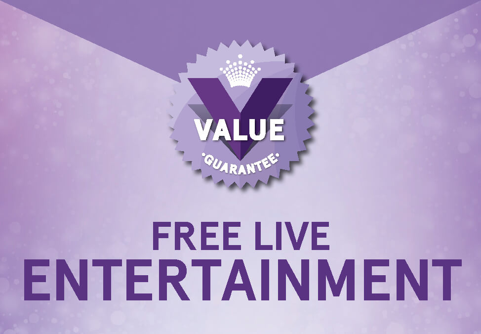 Free Live Entertainment Every Day - Crown Perth's Value Guarantee