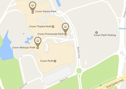 Map Of Crown Perth