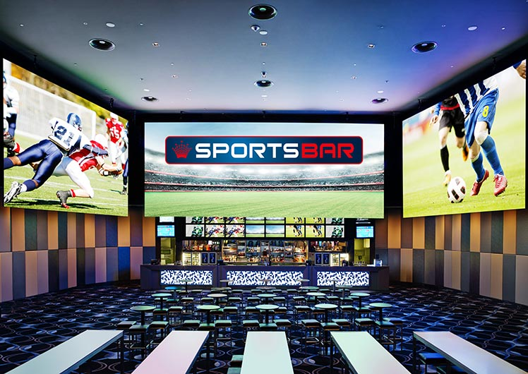 crown sports bar perth screens