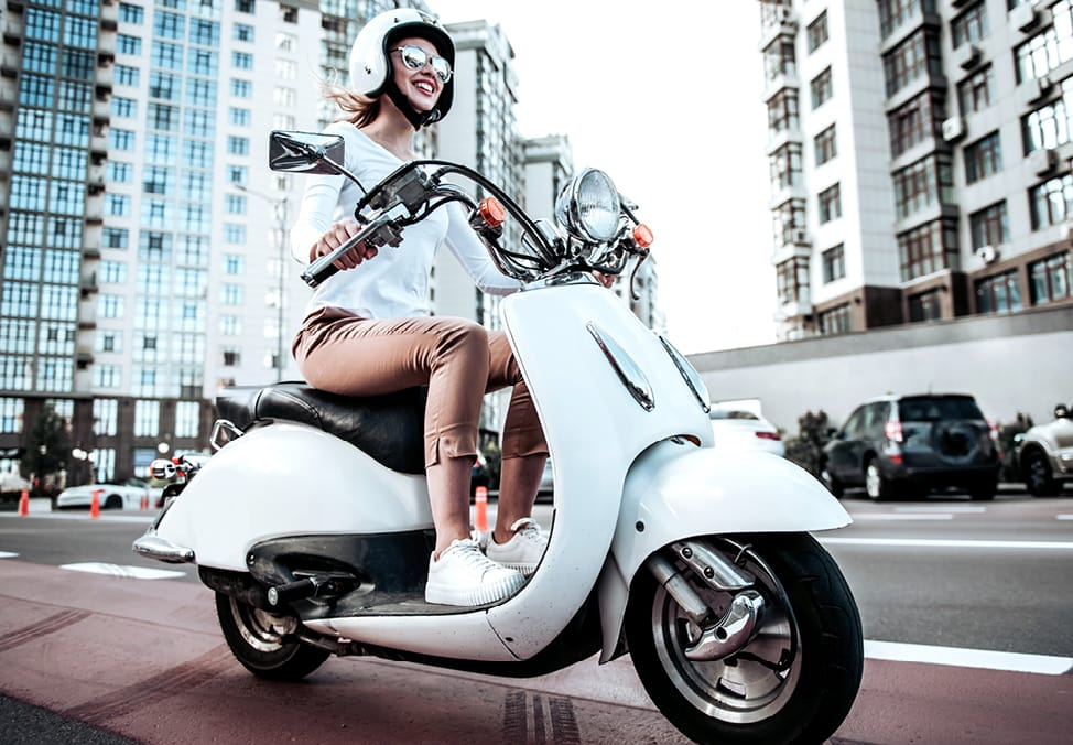 person riding a vespa - your chance to win