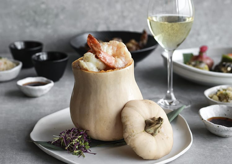 Prawns in a pumpkin at silks perth